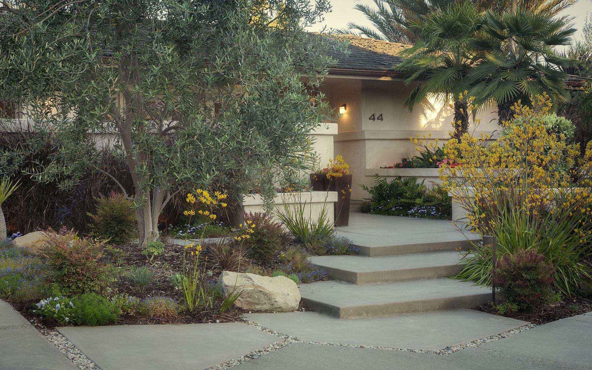 Paradise designs braeburn lane for Water saving garden designs